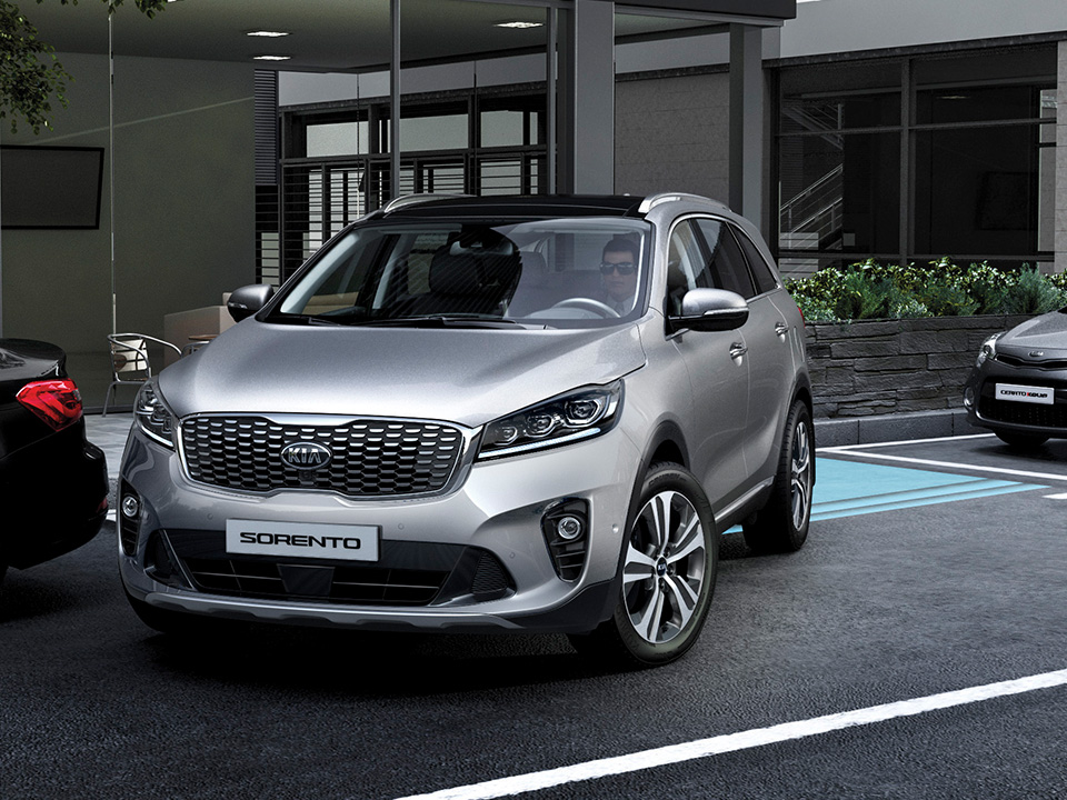 Kia Sorento parking assist parallel